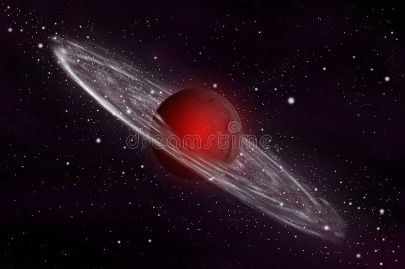 Reuze gasplaneet stock illustratie