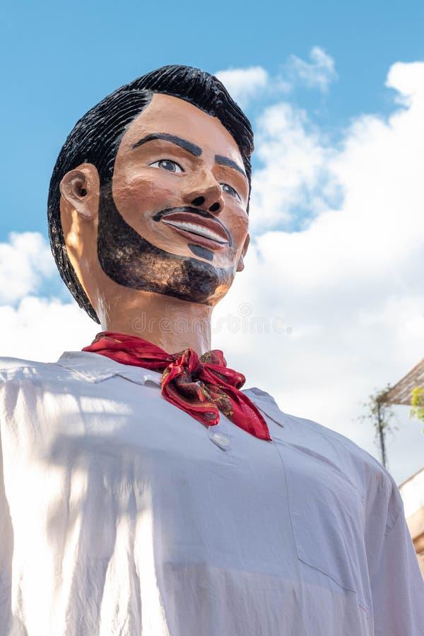 Reuze marionet Oaxaca, Mexico stock afbeelding