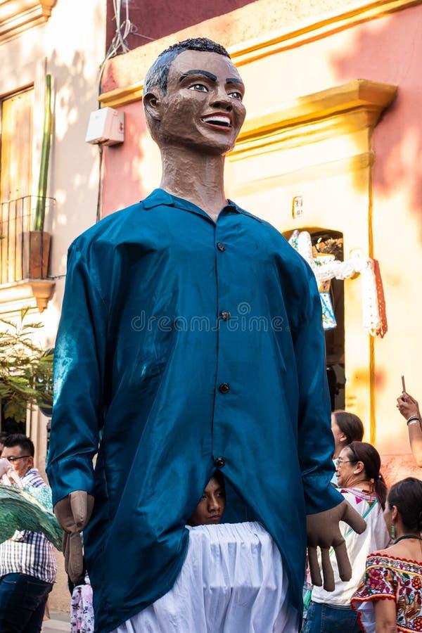 Reuze marionet Oaxaca, Mexico royalty-vrije stock fotografie