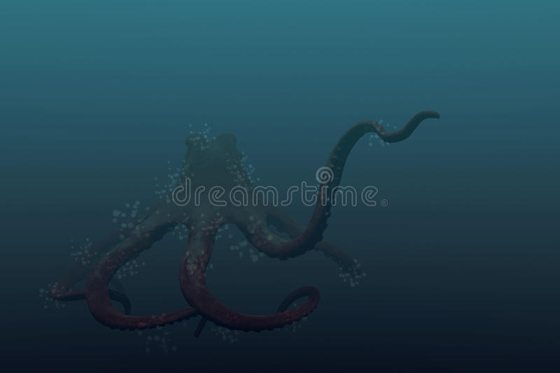 Reuze Octopus vector illustratie
