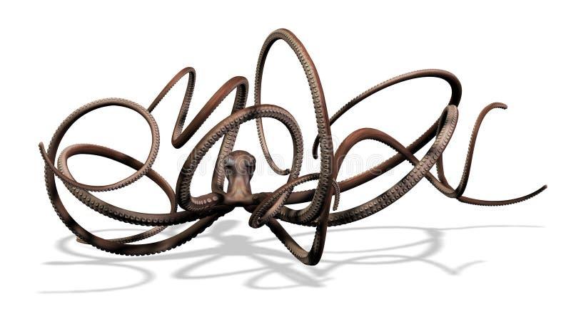 Reuze Octopus royalty-vrije illustratie