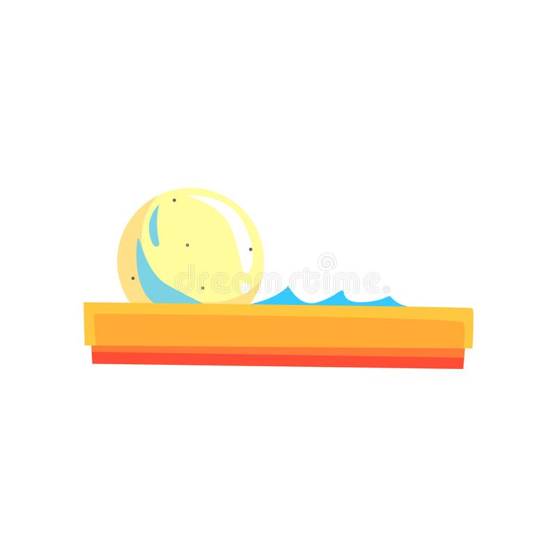 Reuze transparante bal in waterpool Waterbel het zorbing De aantrekkelijkheid van de kinderen` s zomer Kermisterrein met spelen o stock illustratie