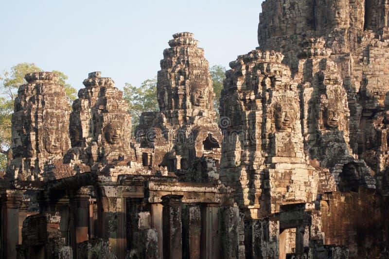 Reuzegezichten bij Bayon-Tempel, Angkor Wat, Kambodja royalty-vrije stock afbeelding
