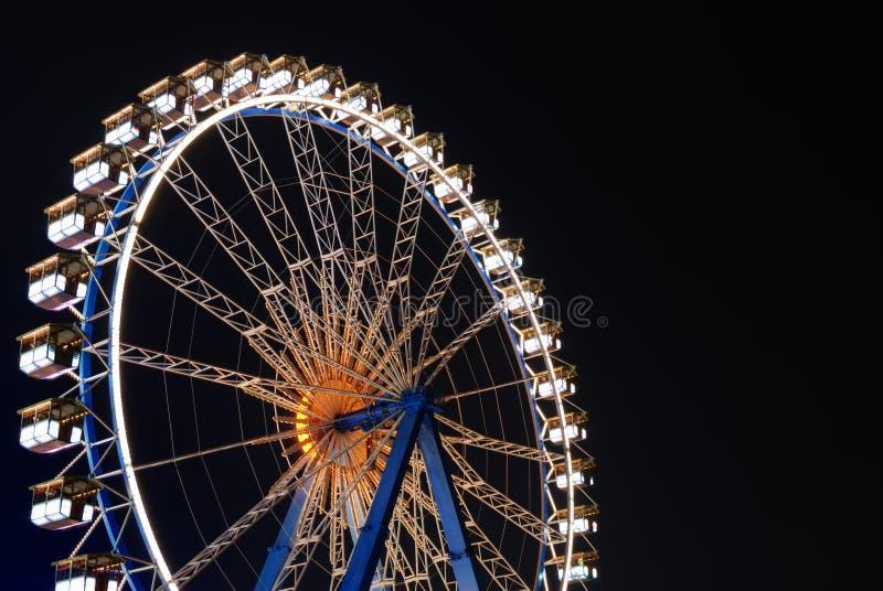 Reuzenrad bij nacht royalty-vrije stock afbeelding