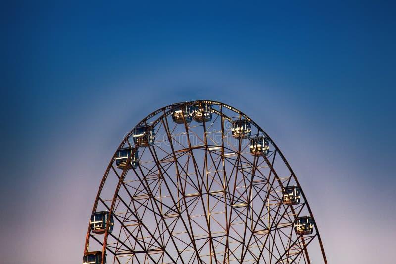 Reuzenrad, groot wiel, metaalbouw stock fotografie