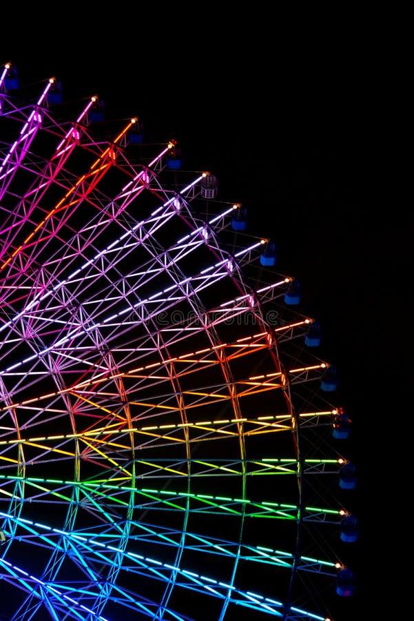 Reuzenrad in Osaka stock afbeelding