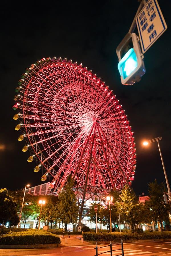 Reuzenrad in Osaka stock foto's
