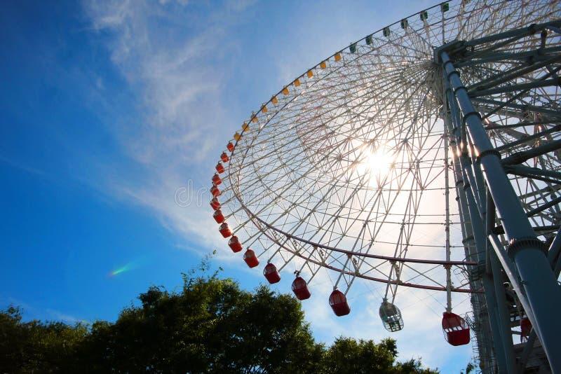 Reuzenrad in Osaka, Japan stock afbeeldingen