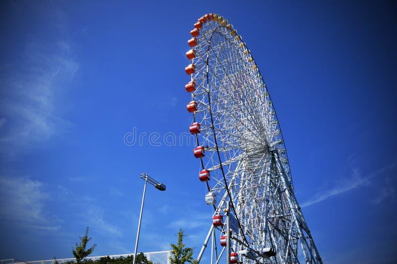 Reuzenrad in Tempozan-Havendorp, Osaka, Japan royalty-vrije stock foto's