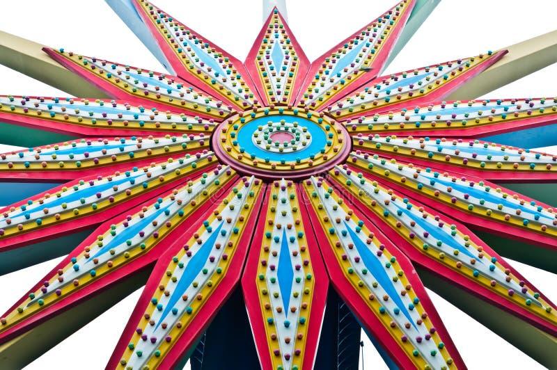 Reuzenrad van kleurrijke achtergrond stock afbeelding