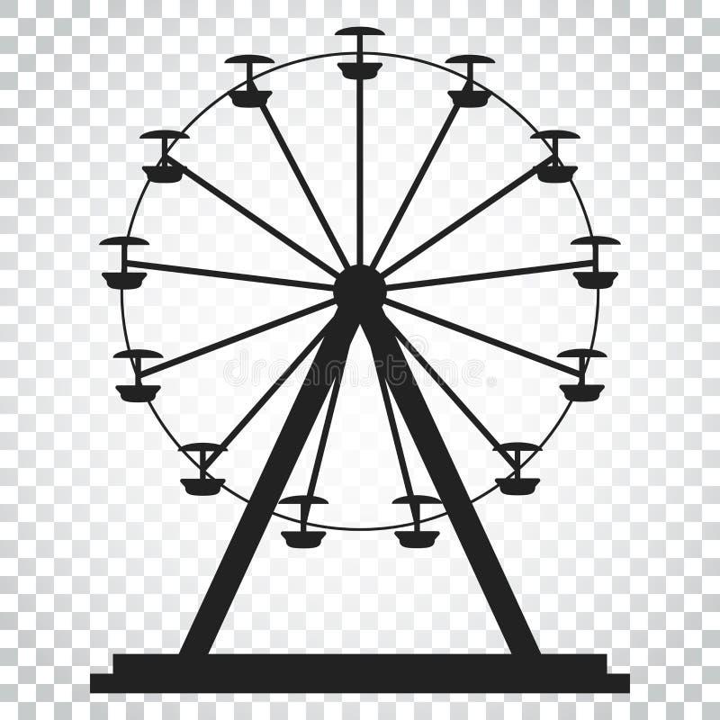 Reuzenrad vectorpictogram Carrousel in parkpictogram Vermaakrit vector illustratie