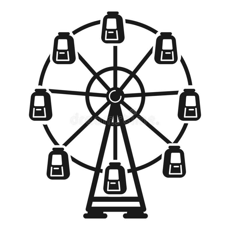 Reuzenradpictogram, eenvoudige stijl royalty-vrije illustratie