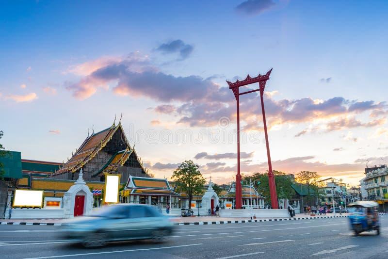 Reuzeschommelingssao Ching Cha in Bangkok, Thailand stock fotografie