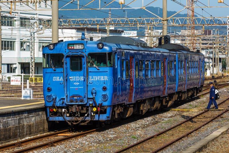 Revêtement de bord de la mer à la station de Nagasaki photo stock