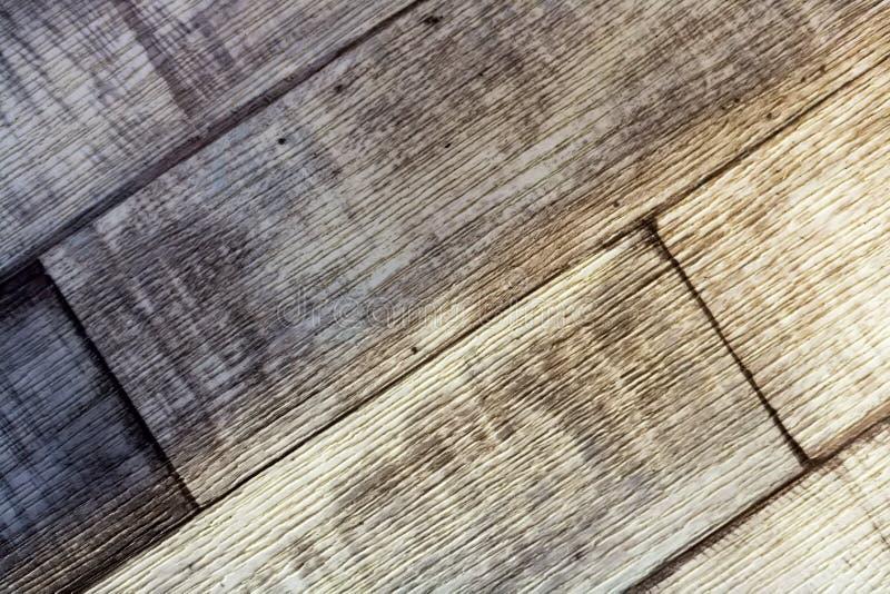 Revêtement de sol, linoléum Imitation des conseils en bois ou du stratifié Surface douce Vue de ci-avant photos libres de droits