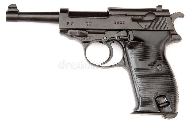 Revólver do preto de Walther fotografia de stock