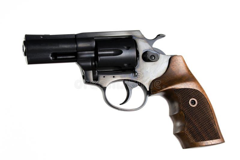 Revólver isolado em um fundo branco fotos de stock