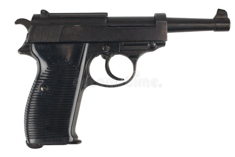Revólver nazi de Walther P38 do exército alemão da era de WWII imagens de stock