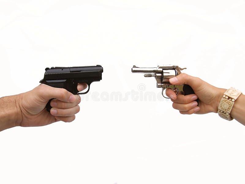 Revólveres de duelo fotos de stock