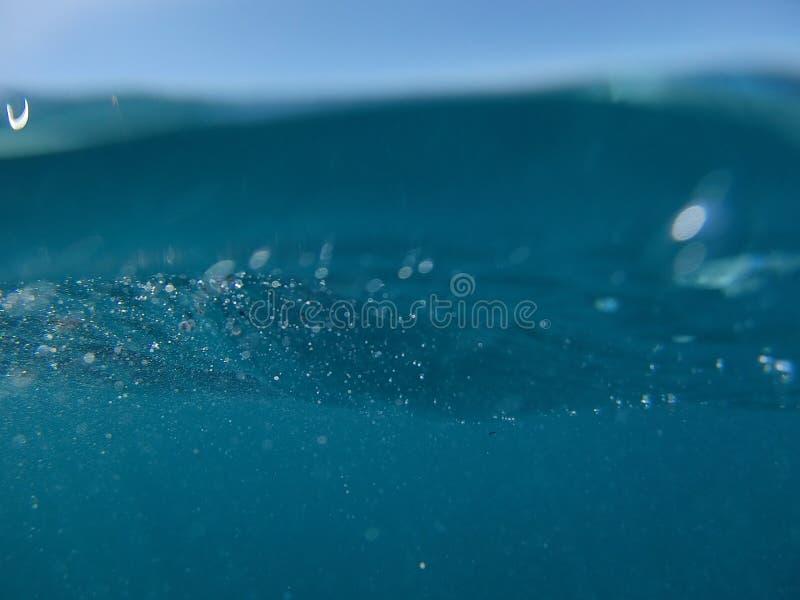 Rev och att snorkla, olik värld, dykning, hav arkivbilder