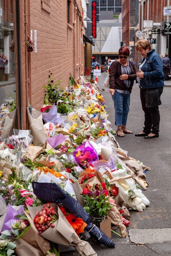 REVASisto Malaspina offer av föregiven terroristattack royaltyfria bilder