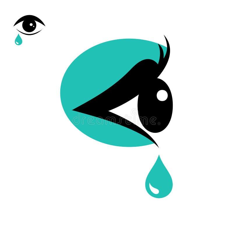 Revasymbol och ögonsymbol stock illustrationer