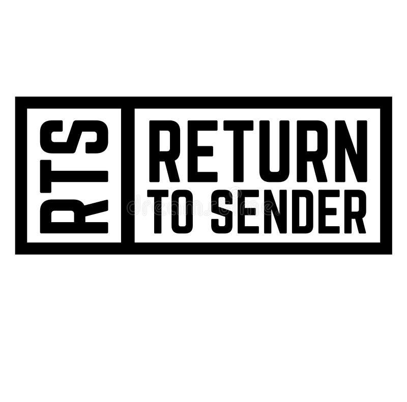 Revenez au timbre d'expéditeur illustration de vecteur
