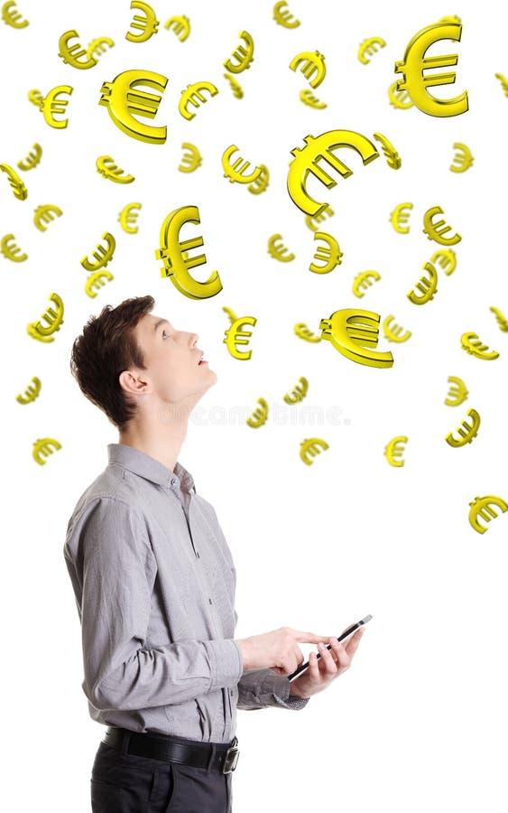 Revenu sur le concept de devise ou d'Internet. photo stock