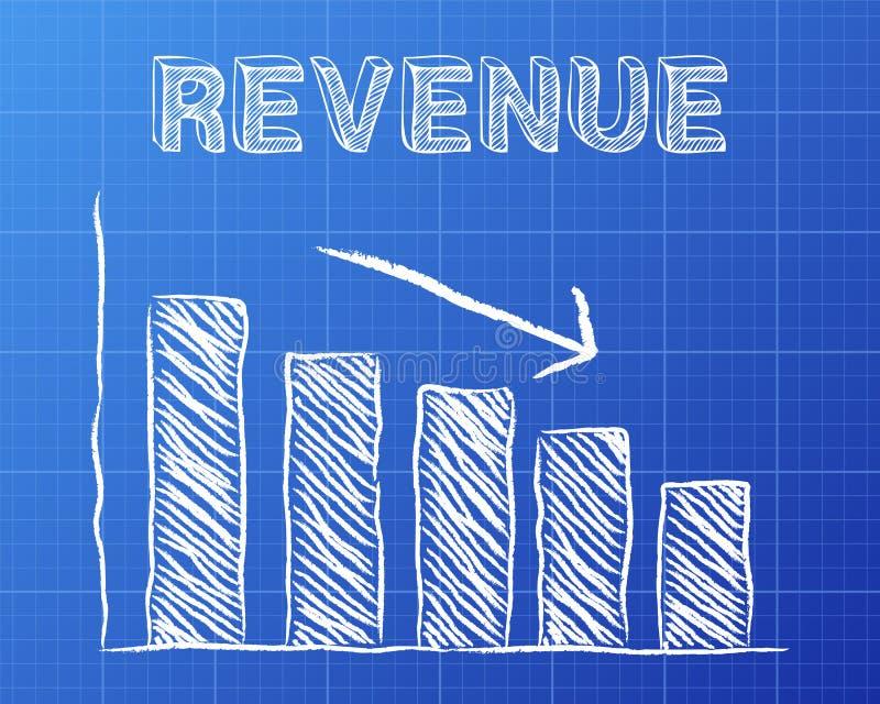 Revenue down blueprint stock vector illustration of decreased download revenue down blueprint stock vector illustration of decreased 106444005 malvernweather Images