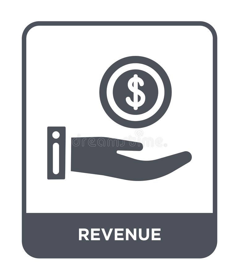 Revenue icon in trendy design style. revenue icon isolated on white background. revenue vector icon simple and modern flat symbol. For web site, mobile, logo royalty free illustration
