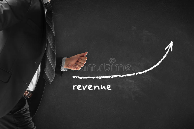 Revenue increase royalty free stock photography