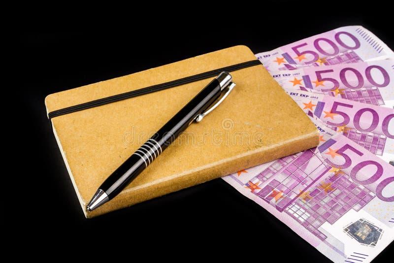 Revenus calculateurs d'affaires image stock