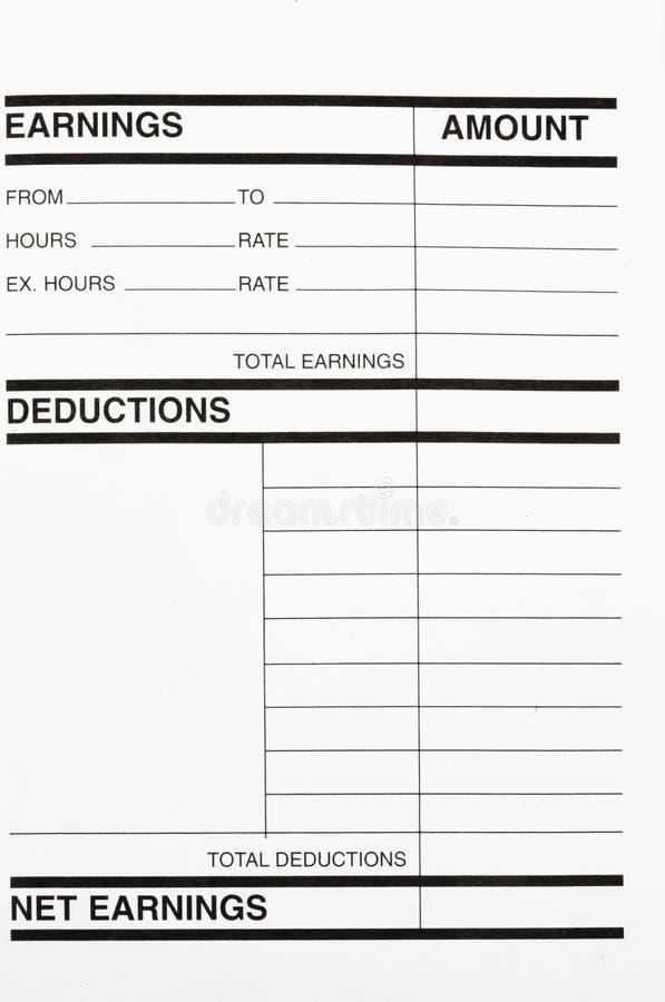Revenus/déductions image libre de droits