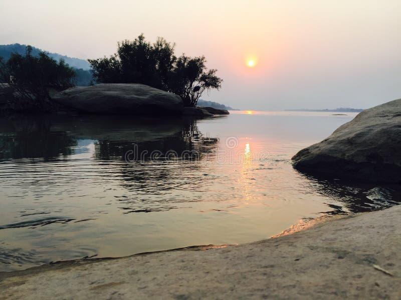 Rever revew老挝 免版税库存照片