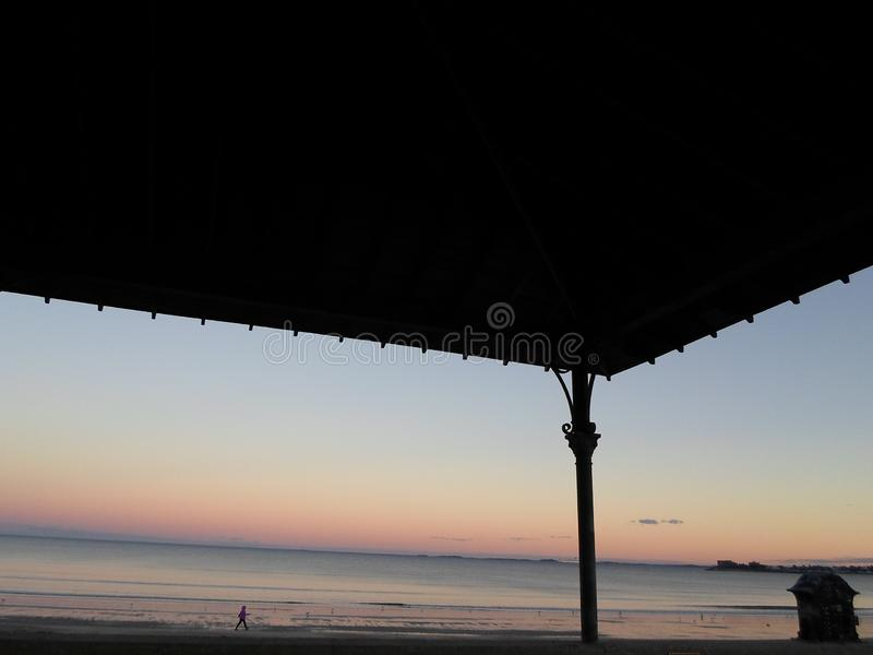 Revere пляж, Revere, Массачусетс, США стоковая фотография rf