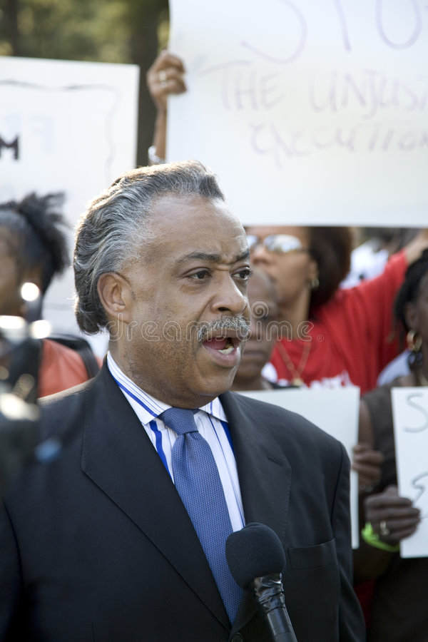 Download The Reverend Al Sharpton editorial image. Image of protest - 6494605