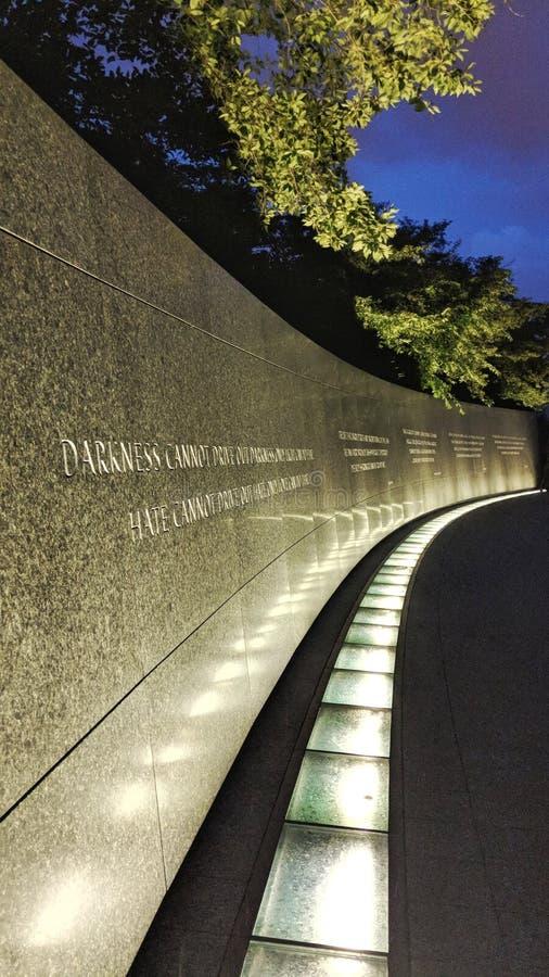 Reverend Arts Martin Luther King Jr Herdenkingsmuur van citaten royalty-vrije stock afbeelding