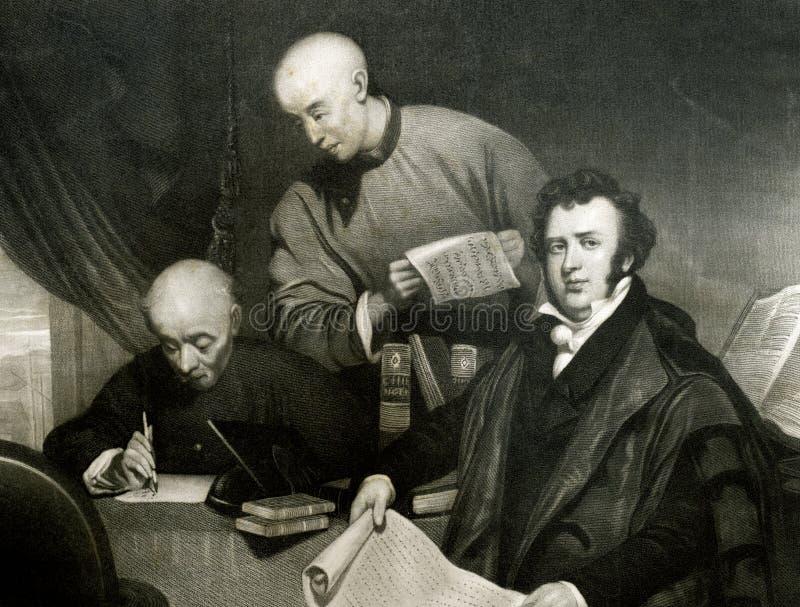 Reverendo Robert Morrison Protestant Missionary stock de ilustración