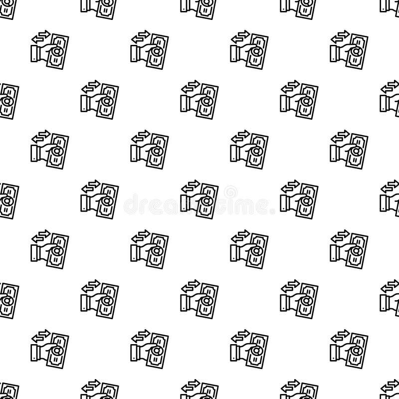 Reverse bribery pattern seamless stock illustration