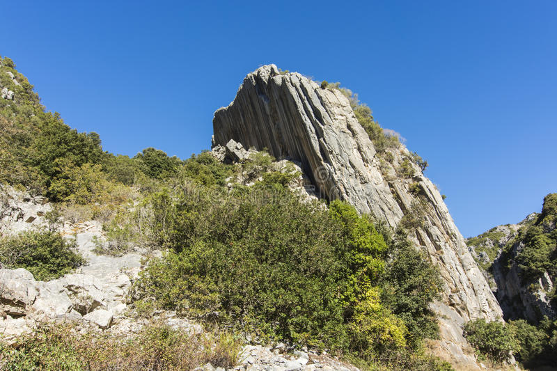 Geology.Reverse Fault royalty free stock image