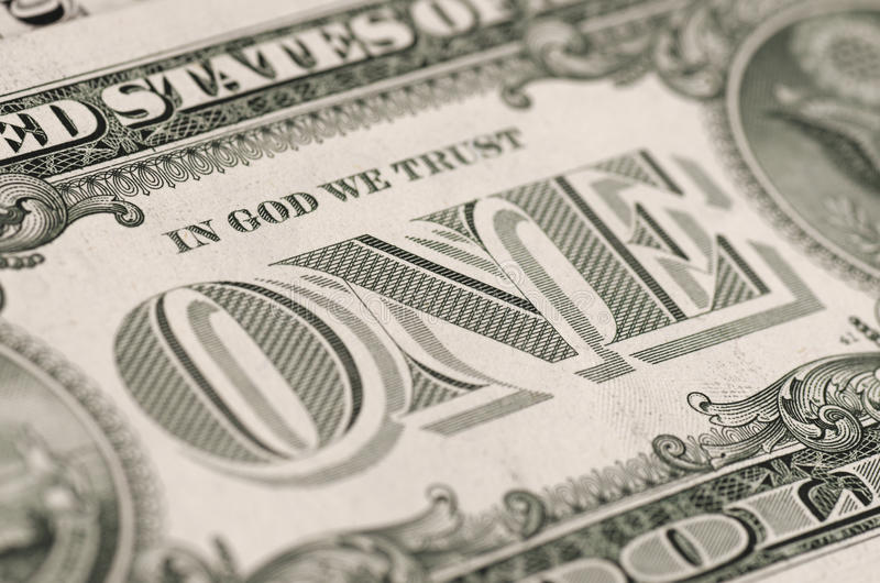 Reverse of one-dollar bill. royalty free stock images