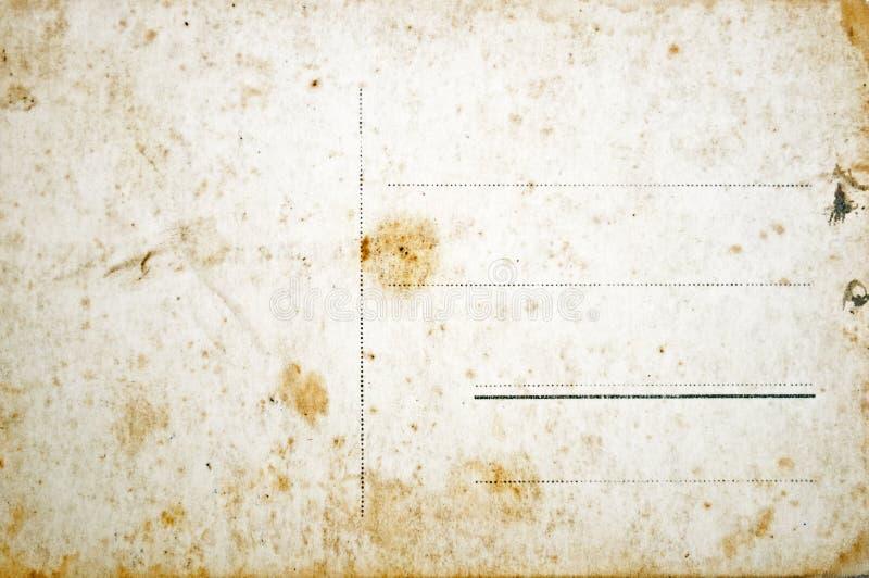 Download Reverse Side Of Empty Grunge Postcard Stock Image - Image: 16155473