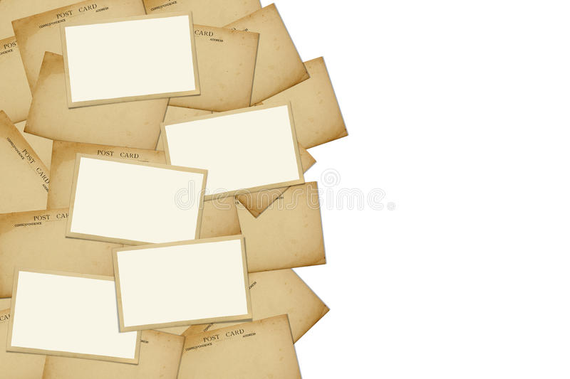 Download Reverse Side Of An Old Postcard. Royalty Free Stock Photos - Image: 20066298