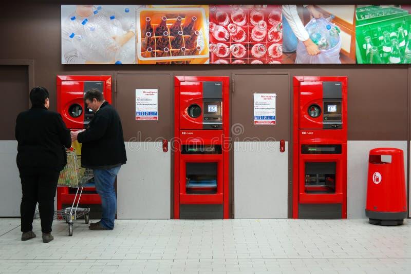 Reverse vending machine stock photography