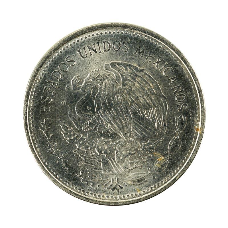 1 reverso da moeda 1986 do peso mexicano isolado no fundo branco foto de stock royalty free