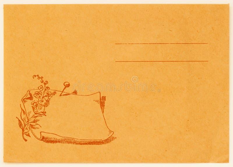 Reverso do cartão do vintage Espaço em branco de Grunge backside Textura (de papel) enrugada Com lugar seu texto, uso do fundo Co fotografia de stock