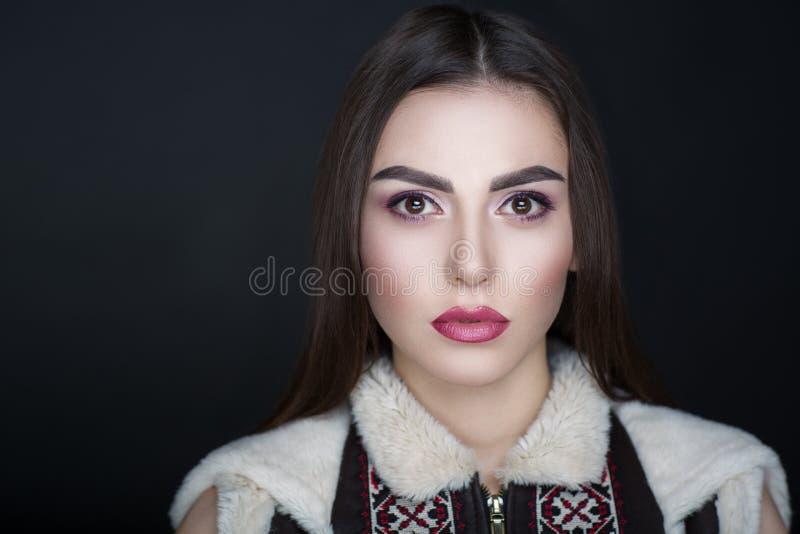 Revestimento à moda da mulher fotografia de stock