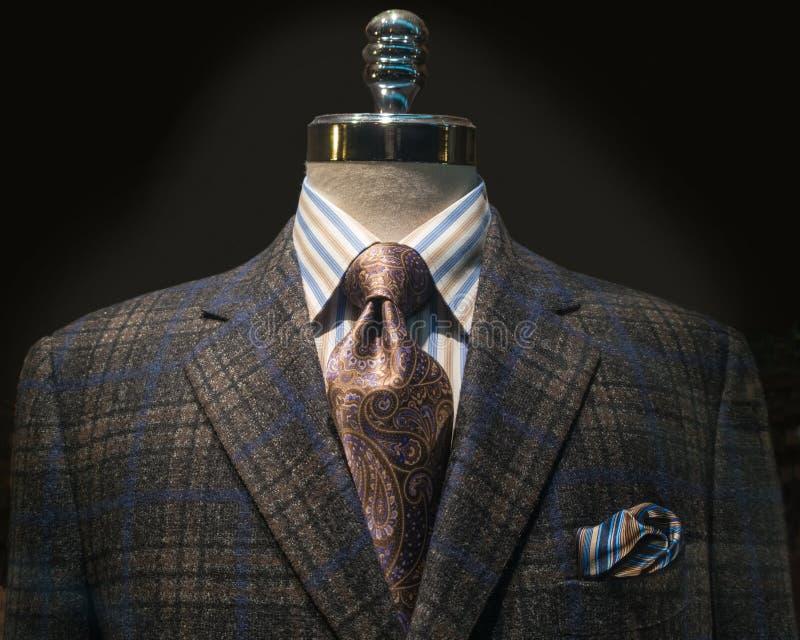 Revestimento Checkered, camisa listrada, laço (horizontal) fotos de stock