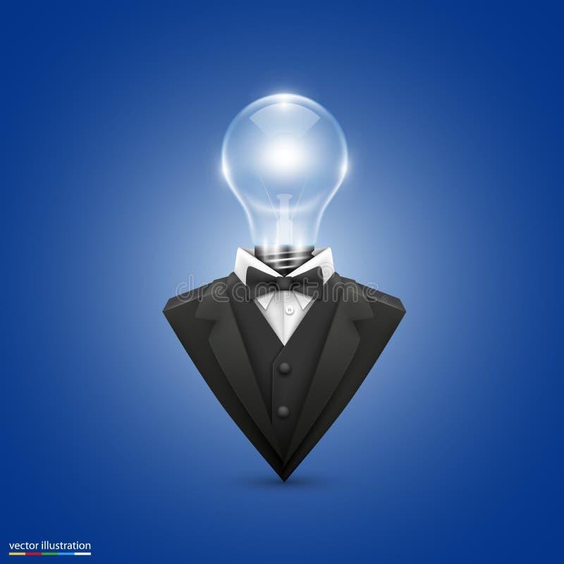 Revestimento com lâmpadas principais ilustração stock