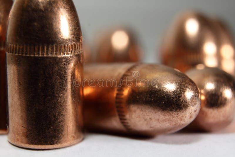 Revestimento completo do metal das balas imagens de stock royalty free